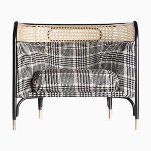 Targa Lounge Stuhl aus Schottenkaro