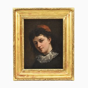 Antique Painting, Young Man Portrait
