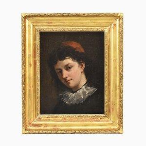 Peinture Antique, Portrait de Jeune Homme