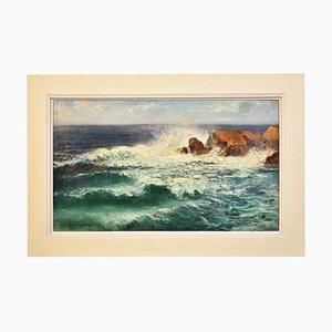 Peinture Marine, Vagues et Peinture sur Pierre, 20ème Siècle