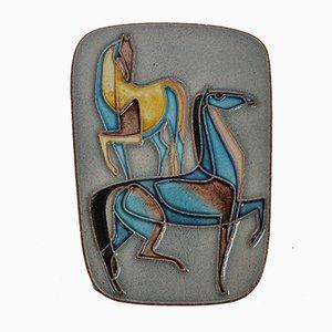 Cavallo Mid-Century in ceramica di Karlsruher Majolika, anni '60