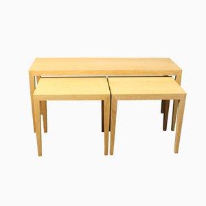 Tavolini a incastro nr. 165 in quercia di Severin Hansen per Haslev, anni '60, set di 3