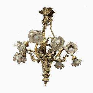 Vintage Bronze 10-Light Chandelier
