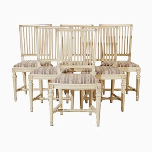 Antique Blond Dining Chairs, Set of 6
