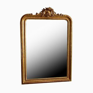 Mid-Century Golden Wood Mirror