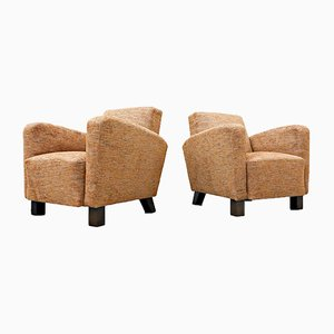 Model H-282 Armchairs by Jindrich Halabala, 1950s, Set of 2