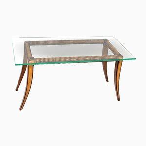 Tavolino da caffè in acero e legno di Osvaldo Borsani, Italia, anni '40
