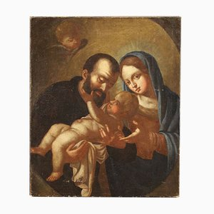 Antique Painting of Holy Family, 18th-Century