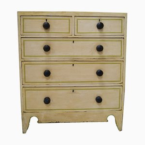 Victorian Hand-Painted Pine Chest of Drawers