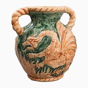 Antique Victorian Decorative Ceramic Dragon Vase