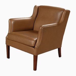 Danish Leather Armchair, 2000s