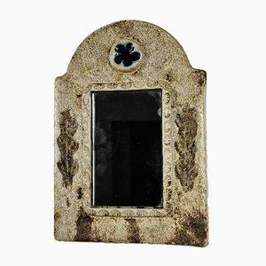 Keramik Spiegel von François Lembo für Vallauris, 1970er