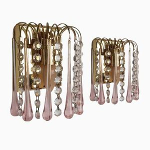 Murano Glass Sconces, 1960s, Set of 2