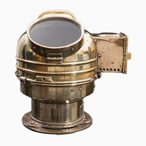 Vintage English Maritime Brass Ship's Binnacle Compass Navigation Aid, 1920s