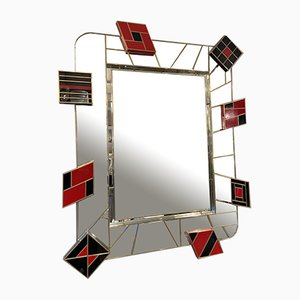 Black and Red Mirror from Martin Studio, 2000s