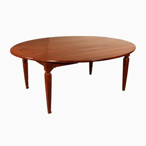 Antique French Oval Cherry Refectory Dining Table, 19th Century