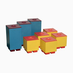 Deckelboxen von Michael Graves für Alessi, 1990er, 8er Set