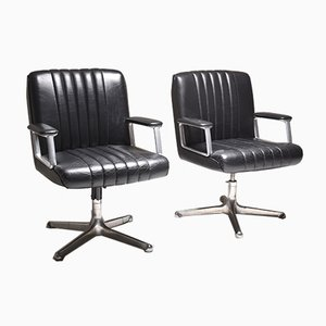 P128 Desk Chairs by Osvaldo Borsani for Tecno, 1970s, Set of 2