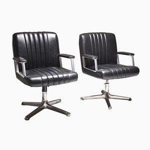 P128 Schreibtischstühle von Osvaldo Borsani für Tecno, 1970er, 2er Set