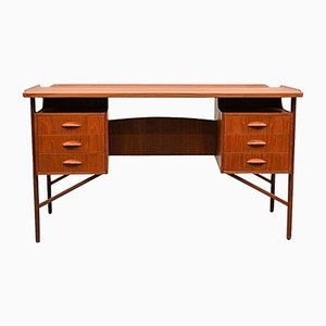 Mid-Century Teak Desk by Svend Aage Madsen for H.P. Hansen