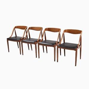 Teak Stühle von Johannes Andersen für Uldum Møbelfabrik, 1960er, 4er Set