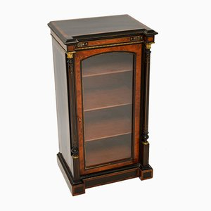 Antique Victorian Burr Walnut & Ebonised Cabinet