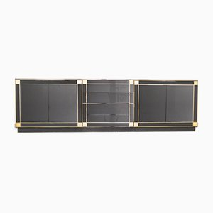 Black Brass Sideboard by Pierre Cardin, 1980s