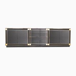 Credenza in ottone nero di Pierre Cardin, anni '80