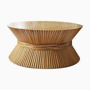 Tavolino da caffè vintage in bambù di McGuire