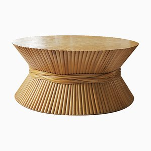 Vintage Bambus Couchtisch von McGuire