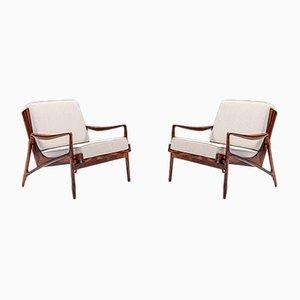 Brazilian Jacaranda Lounge Chairs from Liceu de Artes e Ofícios, 1950s, Set of 2
