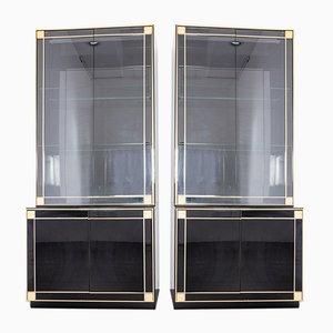 Brass Cabinets by Pierre Cardin, 1980s, Set of 2