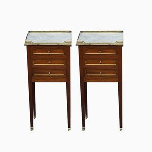 Mahogany Chest of Drawers, 1920s, Set of 2