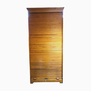 Klappladenschrank aus Weichholz, 1920er