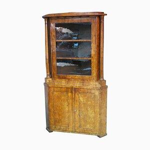 Biedermeier Birch Corner Cabinet, Circa 1810
