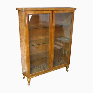 Vintage Birch Showcase Cabinet, Circa 1920
