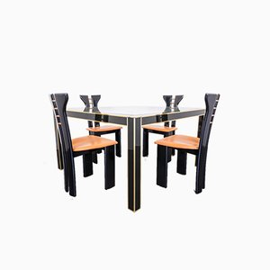 Dining Table & Chairs Set by Pierre Cardin, 1980s, Set of 5
