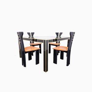 Set da pranzo e tavolo di Pierre Cardin, anni '80, set di 5