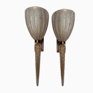 Murano Glass Sconces from Verre de Murano, 1990s, Set of 2