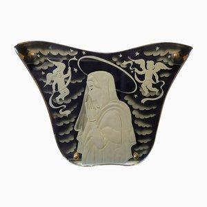 Spiegel mit Madonna & Engel Design von Luigi Brusotti für Fontana Arte, 1940er