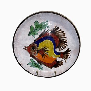 Earthenware Rascasse Plate by Le Brescon for Vallauris, 1970s