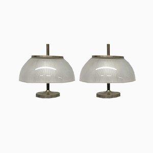 Italian Alfetta Table Lamps by Sergio Mazza for Artemide, 1966, Set of 2