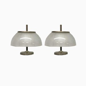 Italienische Alfetta Tischlampen von Sergio Mazza für Artemide, 1966, 2er Set