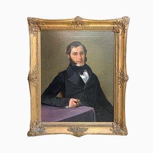 Biedermeier Porträt von Gustav Adolf Barthel, 19. Jh