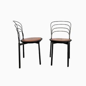 Esszimmerstühle von Giuseppe Gismondi für Tetide, 1987, 2er Set