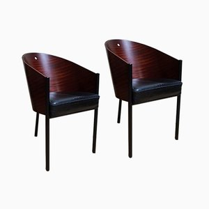 Vintage Costes Esszimmerstühle von Philippe Starck für Driade, 2er Set