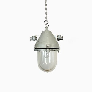 Industrielle Explosionssichere Lampe aus gegossenem Aluminium von Elektrosvit, 1960er