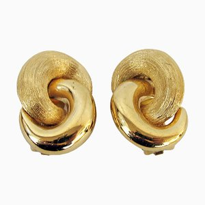 Vintage Clip-on Earrings by Christian Dior, 1980s, Set of 2