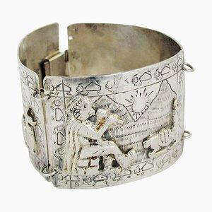 Braccialetto peruviano vintage in argento di Industria Peruana, anni '20