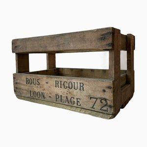 Französische Vintage Holzkiste